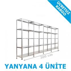 Vale Group - Çelik Raf Sistemi 31x300x200 5 Katlı