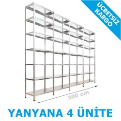 Vale Group - Çelik Raf Sistemi 31x300x250 7 Katlı